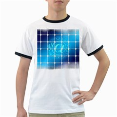 Tile Square Mail Email E Mail At Ringer T Shirts