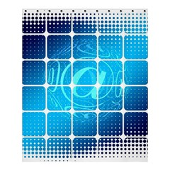 Tile Square Mail Email E Mail At Shower Curtain 60  X 72  (medium)  by Nexatart