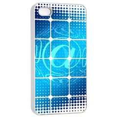 Tile Square Mail Email E Mail At Apple Iphone 4/4s Seamless Case (white) by Nexatart