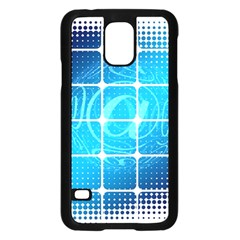Tile Square Mail Email E Mail At Samsung Galaxy S5 Case (black) by Nexatart