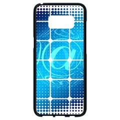Tile Square Mail Email E Mail At Samsung Galaxy S8 Black Seamless Case