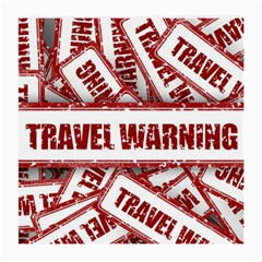 Travel Warning Shield Stamp Medium Glasses Cloth