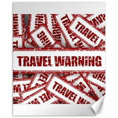 Travel Warning Shield Stamp Canvas 11  X 14   by Nexatart