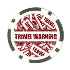 Travel Warning Shield Stamp Poker Chip Card Guard