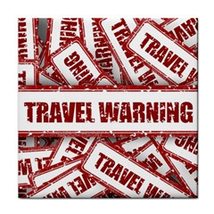 Travel Warning Shield Stamp Face Towel