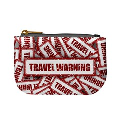 Travel Warning Shield Stamp Mini Coin Purses