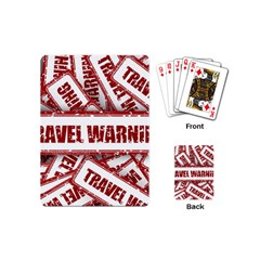 Travel Warning Shield Stamp Playing Cards (mini)