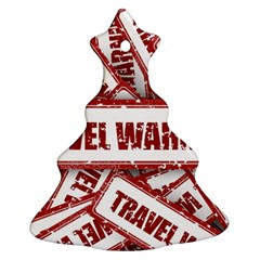 Travel Warning Shield Stamp Christmas Tree Ornament (two Sides) by Nexatart