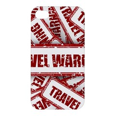 Travel Warning Shield Stamp Apple Iphone 4/4s Hardshell Case by Nexatart
