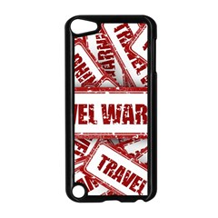 Travel Warning Shield Stamp Apple Ipod Touch 5 Case (black) by Nexatart