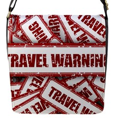 Travel Warning Shield Stamp Flap Messenger Bag (s)