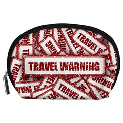 Travel Warning Shield Stamp Accessory Pouches (large)  by Nexatart