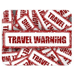 Travel Warning Shield Stamp Double Sided Flano Blanket (medium)