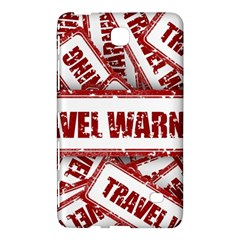Travel Warning Shield Stamp Samsung Galaxy Tab 4 (7 ) Hardshell Case  by Nexatart