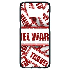 Travel Warning Shield Stamp Samsung Galaxy S8 Black Seamless Case