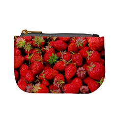 Strawberries Berries Fruit Mini Coin Purses by Nexatart