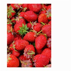 Strawberries Berries Fruit Small Garden Flag (two Sides) by Nexatart