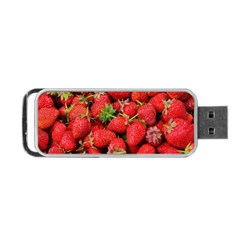 Strawberries Berries Fruit Portable Usb Flash (one Side)