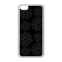 Spider Web Apple Iphone 5c Seamless Case (white) by Valentinaart