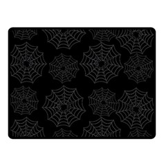 Spider Web Double Sided Fleece Blanket (small)  by Valentinaart