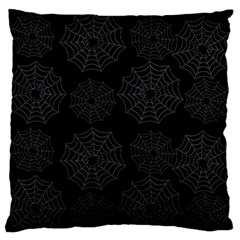 Spider Web Large Flano Cushion Case (one Side) by Valentinaart