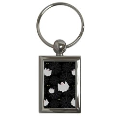 Spider Web And Ghosts Pattern Key Chains (rectangle)  by Valentinaart