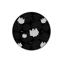 Spider Web And Ghosts Pattern Magnet 3  (round) by Valentinaart
