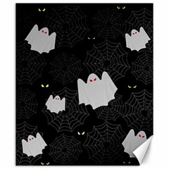 Spider Web And Ghosts Pattern Canvas 20  X 24   by Valentinaart