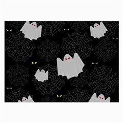 Spider Web And Ghosts Pattern Large Glasses Cloth (2 Side) by Valentinaart