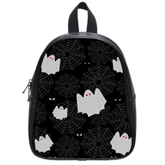 Spider Web And Ghosts Pattern School Bag (small) by Valentinaart