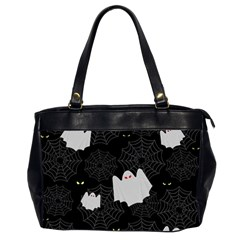 Spider Web And Ghosts Pattern Office Handbags (2 Sides)  by Valentinaart