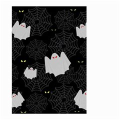 Spider Web And Ghosts Pattern Small Garden Flag (two Sides)