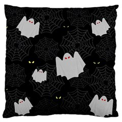 Spider Web And Ghosts Pattern Large Cushion Case (two Sides) by Valentinaart