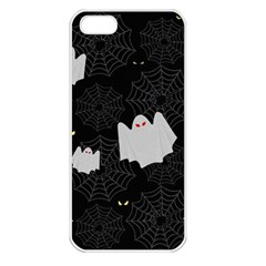 Spider Web And Ghosts Pattern Apple Iphone 5 Seamless Case (white)