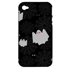 Spider Web And Ghosts Pattern Apple Iphone 4/4s Hardshell Case (pc+silicone) by Valentinaart