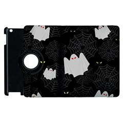 Spider Web And Ghosts Pattern Apple Ipad 2 Flip 360 Case by Valentinaart