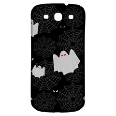 Spider Web And Ghosts Pattern Samsung Galaxy S3 S Iii Classic Hardshell Back Case by Valentinaart