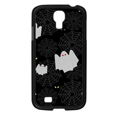 Spider Web And Ghosts Pattern Samsung Galaxy S4 I9500/ I9505 Case (black) by Valentinaart