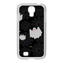 Spider Web And Ghosts Pattern Samsung Galaxy S4 I9500/ I9505 Case (white) by Valentinaart