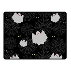 Spider Web And Ghosts Pattern Double Sided Fleece Blanket (small)