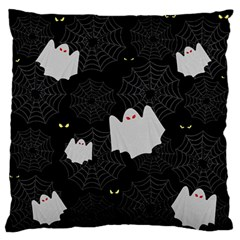 Spider Web And Ghosts Pattern Standard Flano Cushion Case (two Sides) by Valentinaart