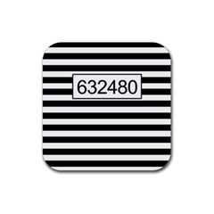 Prison  Rubber Coaster (square)  by Valentinaart