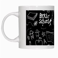 Back To School White Mugs