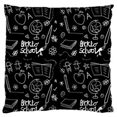 Back To School Large Cushion Case (two Sides)
