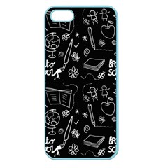 Back To School Apple Seamless Iphone 5 Case (color) by Valentinaart