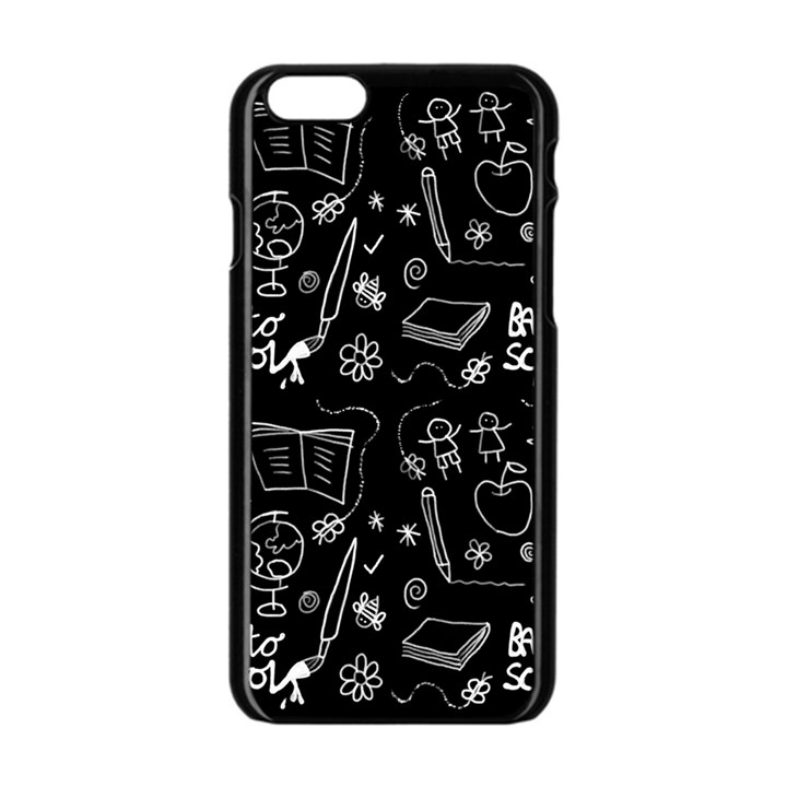 Back to School Apple iPhone 6/6S Black Enamel Case