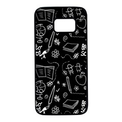 Back To School Samsung Galaxy S7 Black Seamless Case by Valentinaart