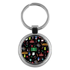 Back To School Key Chains (round)  by Valentinaart