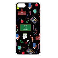 Back To School Apple Iphone 5 Seamless Case (white) by Valentinaart
