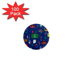 Back To School 1  Mini Magnets (100 Pack)